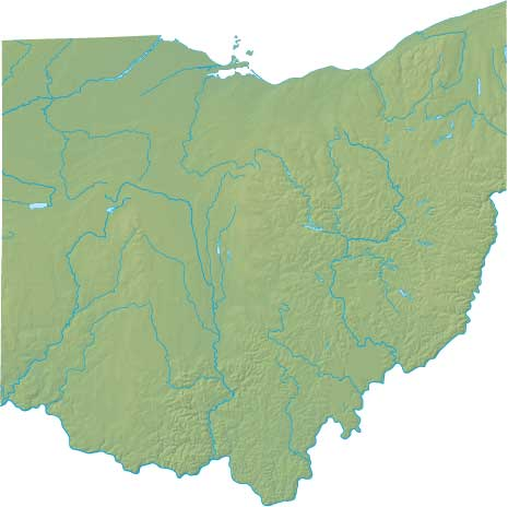 Ohio relief map